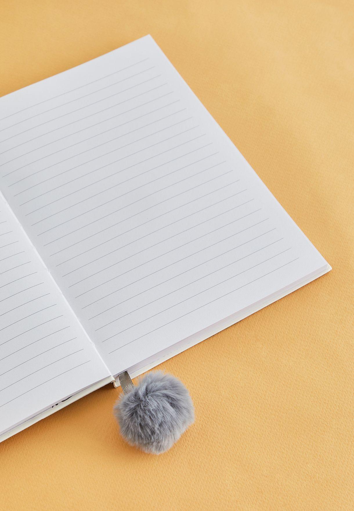 دفتر ملاحظات مزين بشكل قط