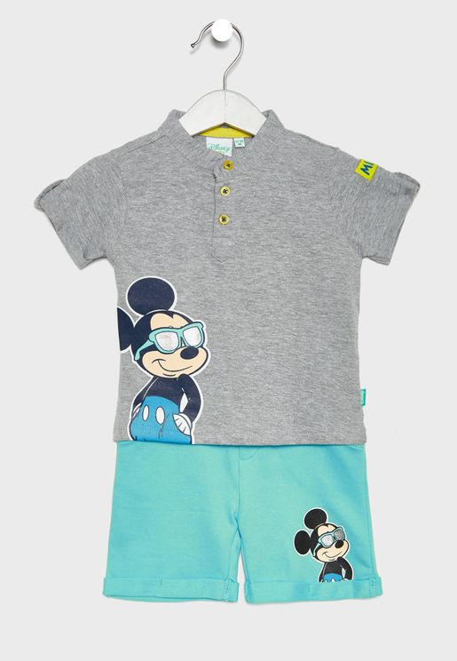 Infant Mickey Mouse T-Shirt + Shorts Set