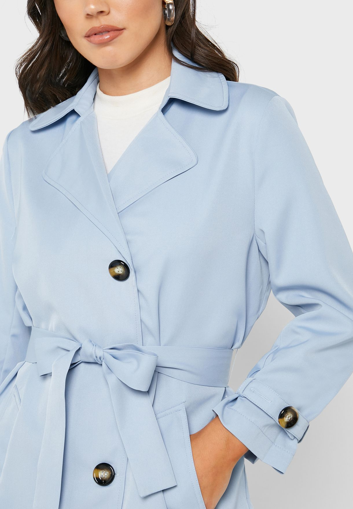 Longline Belted Trench Coat