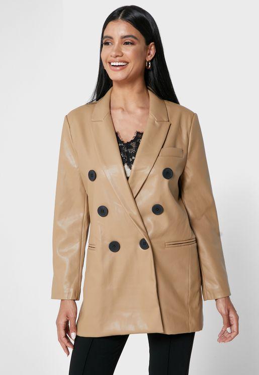 Longline Pu Jacket