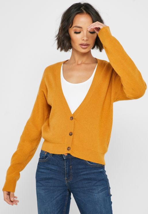 Drop Shoulder Button Down Cardigan