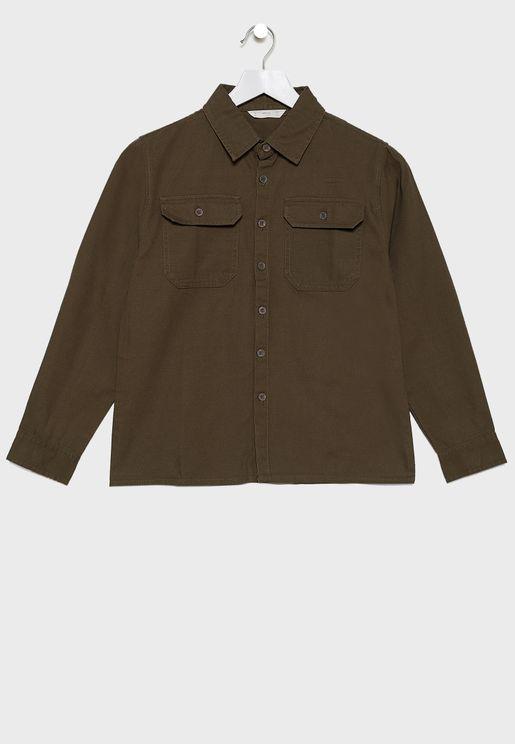 Kids Pocket Detail Shirt