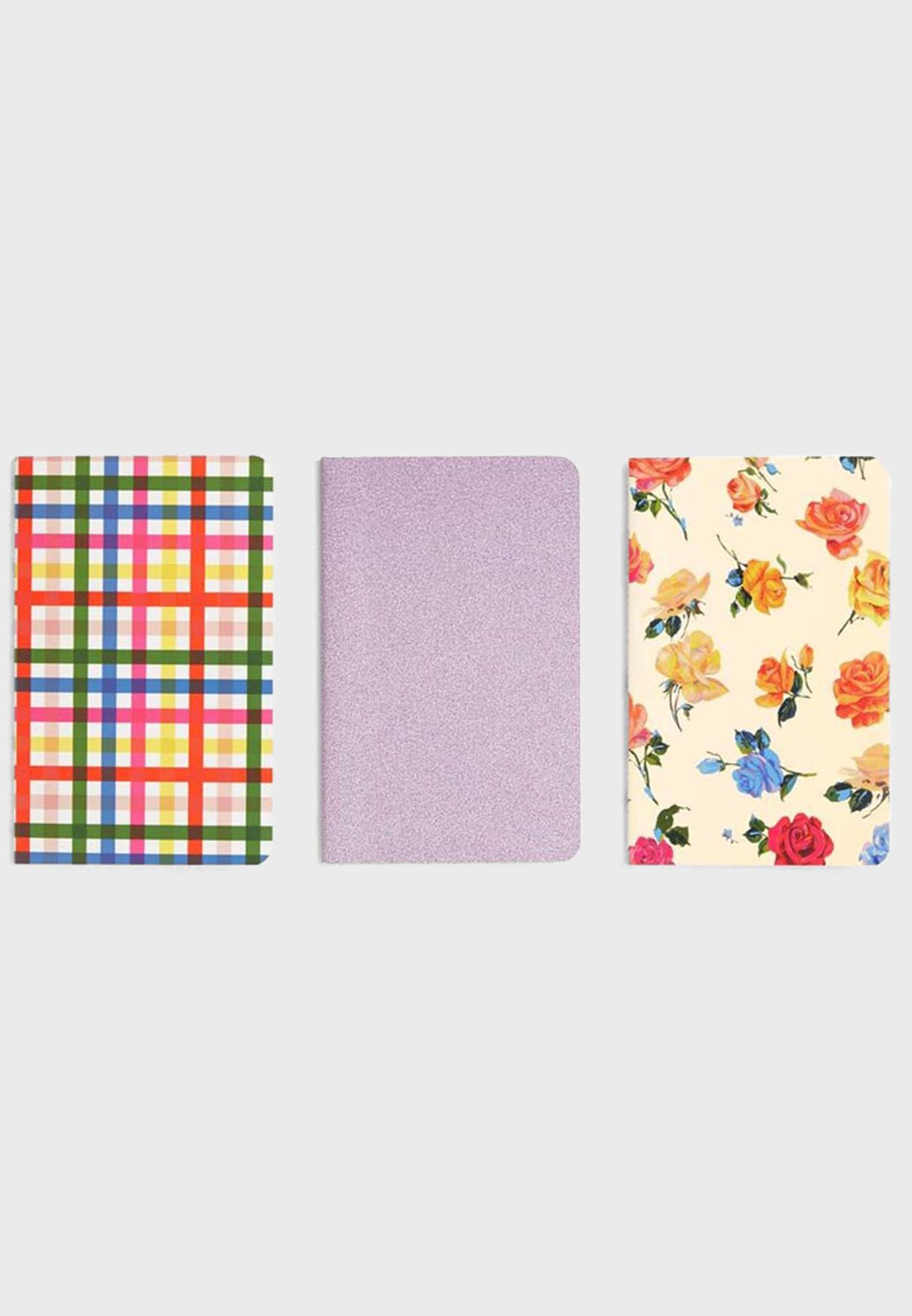Set Of 3 Floral Notebook