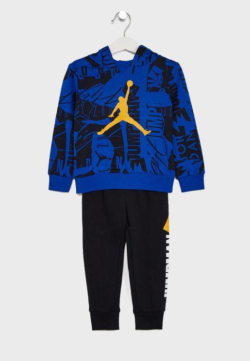 Kids Jordan Essential Fleece Aop Set