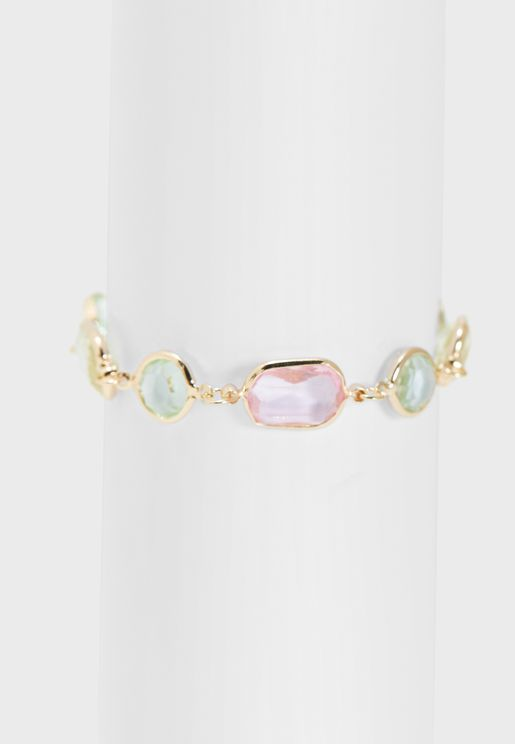 Coloured Stone Detail Bracelet