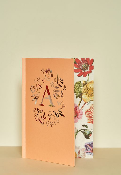 A-Initial Gardenia Monogram Journal