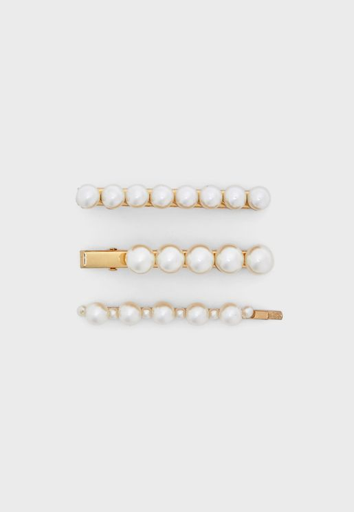 Multipack Pearly Hair Clips
