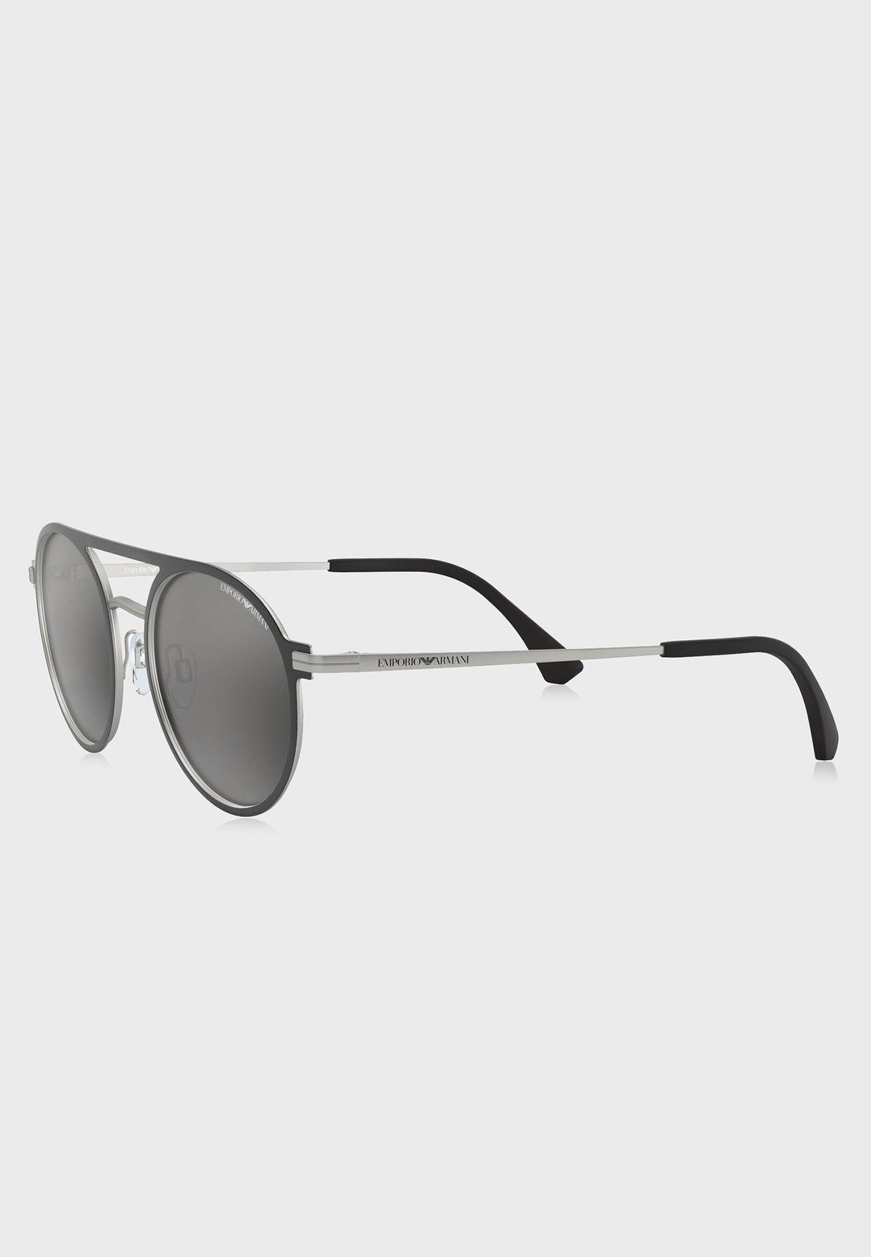 0EA2080 Top Bar Sunglasses