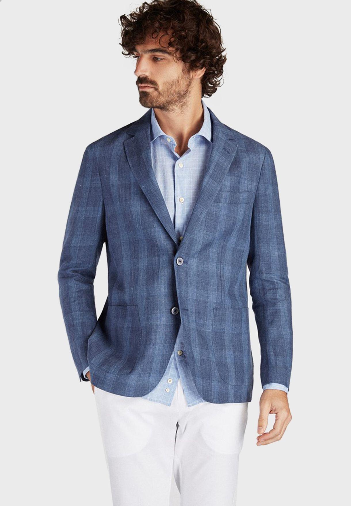 Classic Slim Fit Linen Blazer