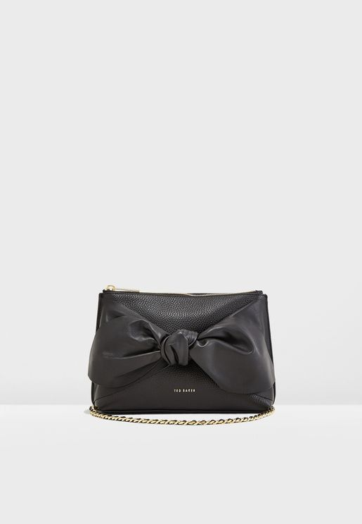 Darnna Soft Knot Detail Clutch