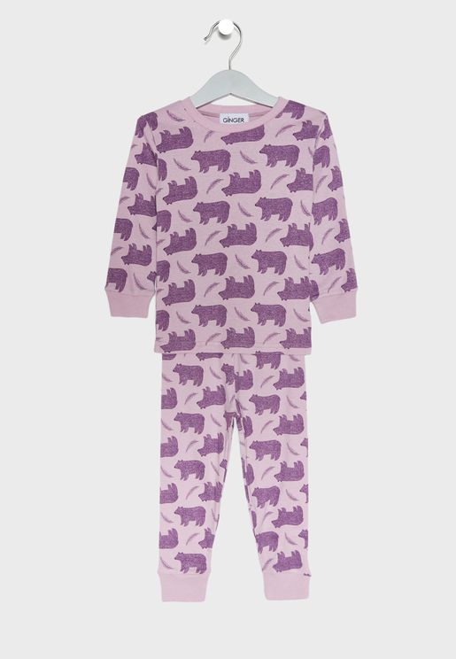 Bear Print Pyjama Set