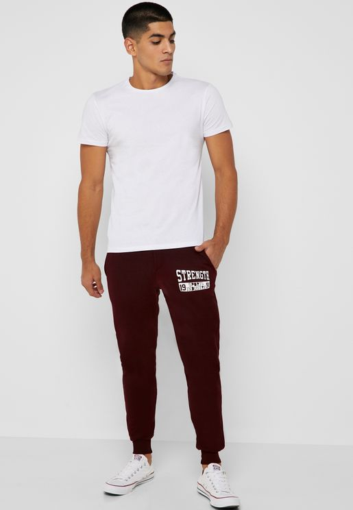 Graphic Print Cuffed Joggers