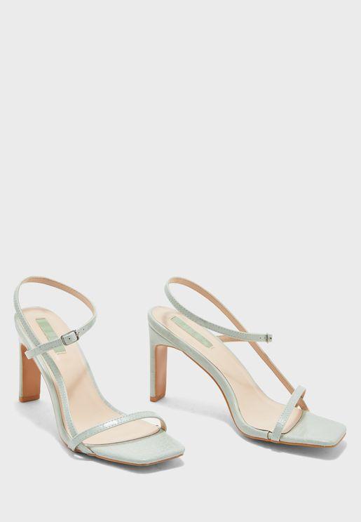 Square Toe Croc Strap Sandals