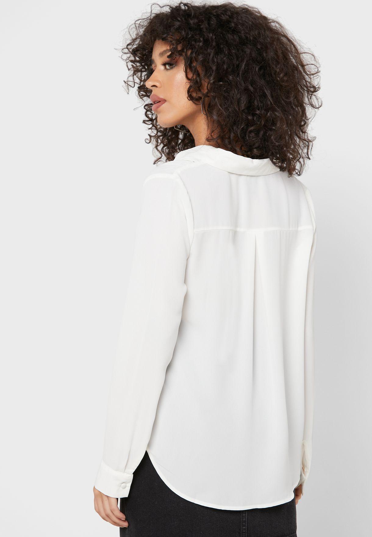 قميص كاجوال باطراف منحنية