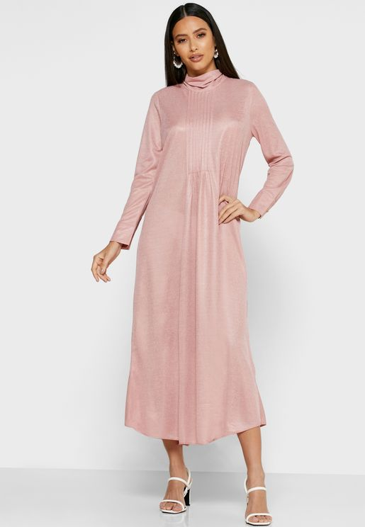 Satin Tie Back Maxi Dress