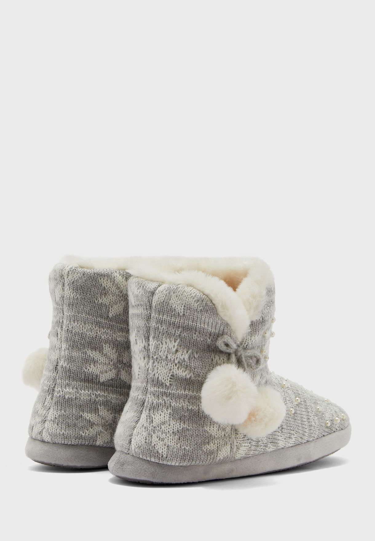Snowflake Knit House Bootie
