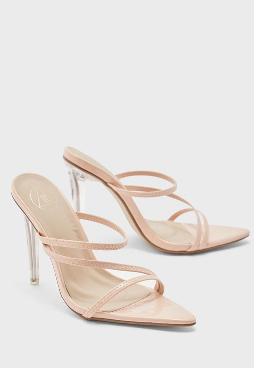 Triple Strap High Heel Sandal