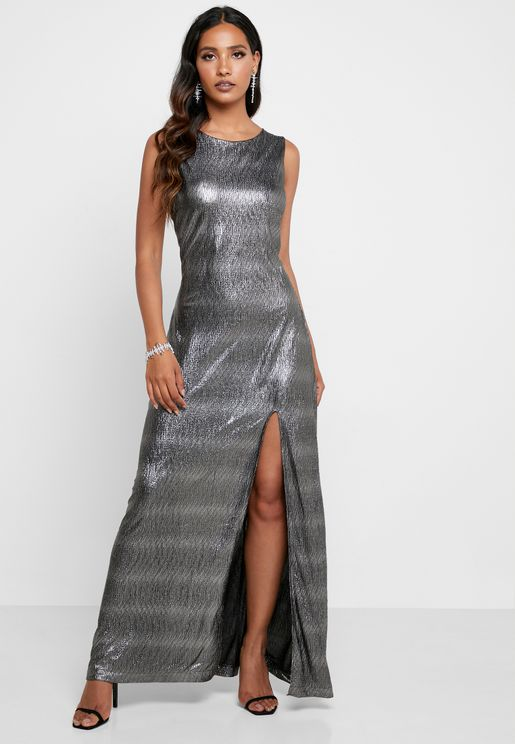 Side Split Shimmer Dress