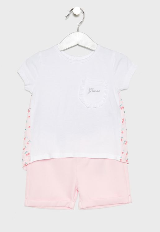66f307cfcad5e Infant T-Shirt + Shorts Set