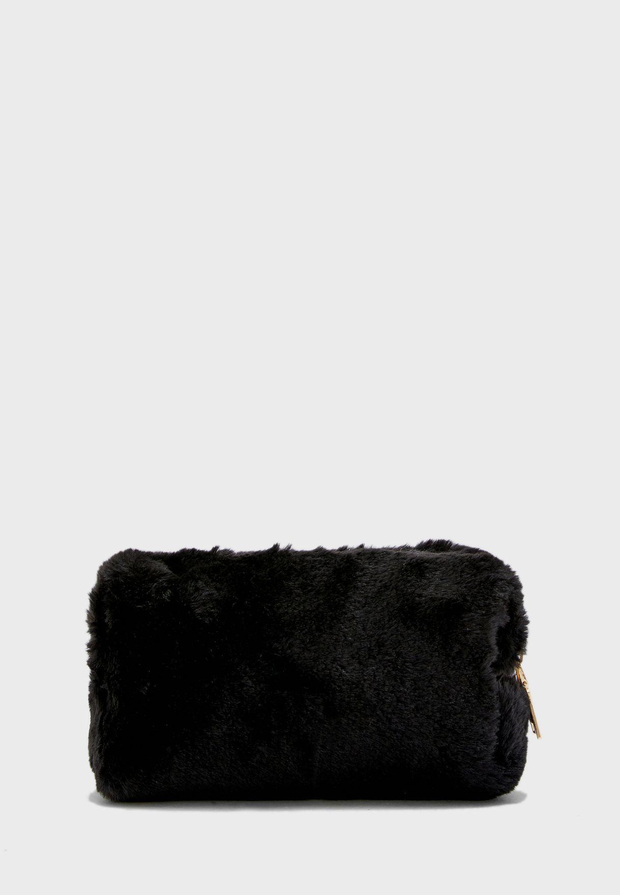 Small Fur  Cosmetic Bag