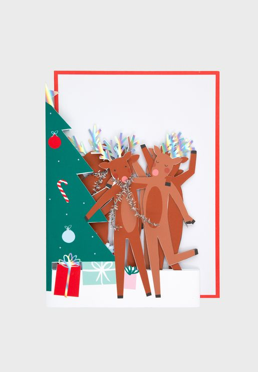 Dancing Reindeer Card
