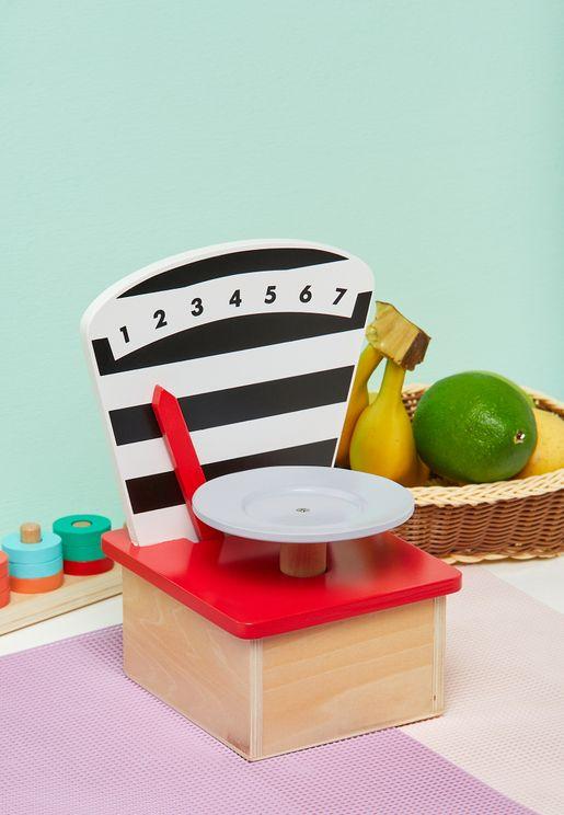 Toy Wooden Kitchen Scale