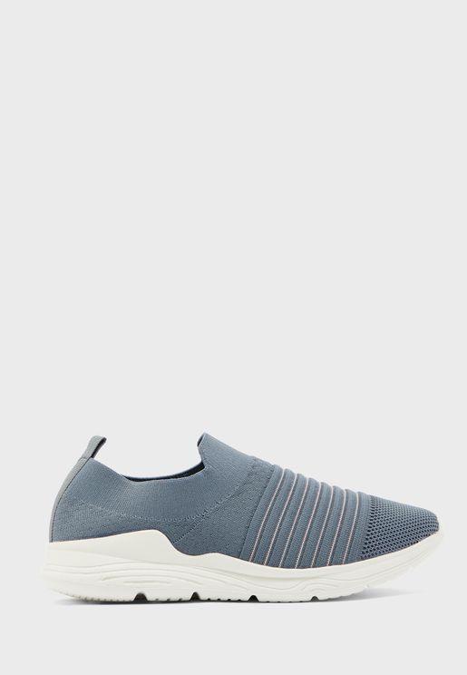 Slip On Knit Sneakers