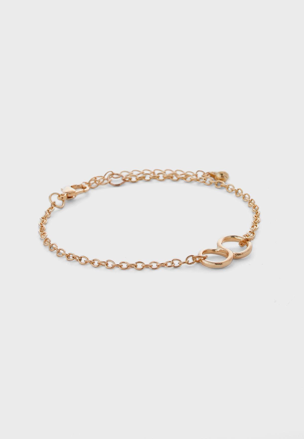 Pack Of 4 Charm Detail Bracelets