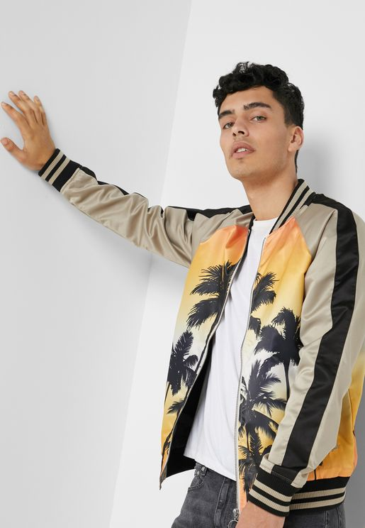 Palm Bomber Jacket