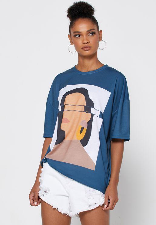 Super Oversized Printed T-Shirt