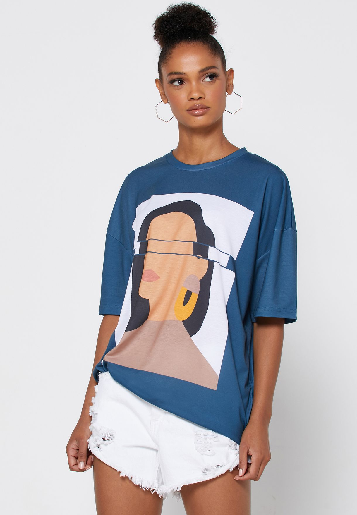 Super Oversized Printed T-Shirt