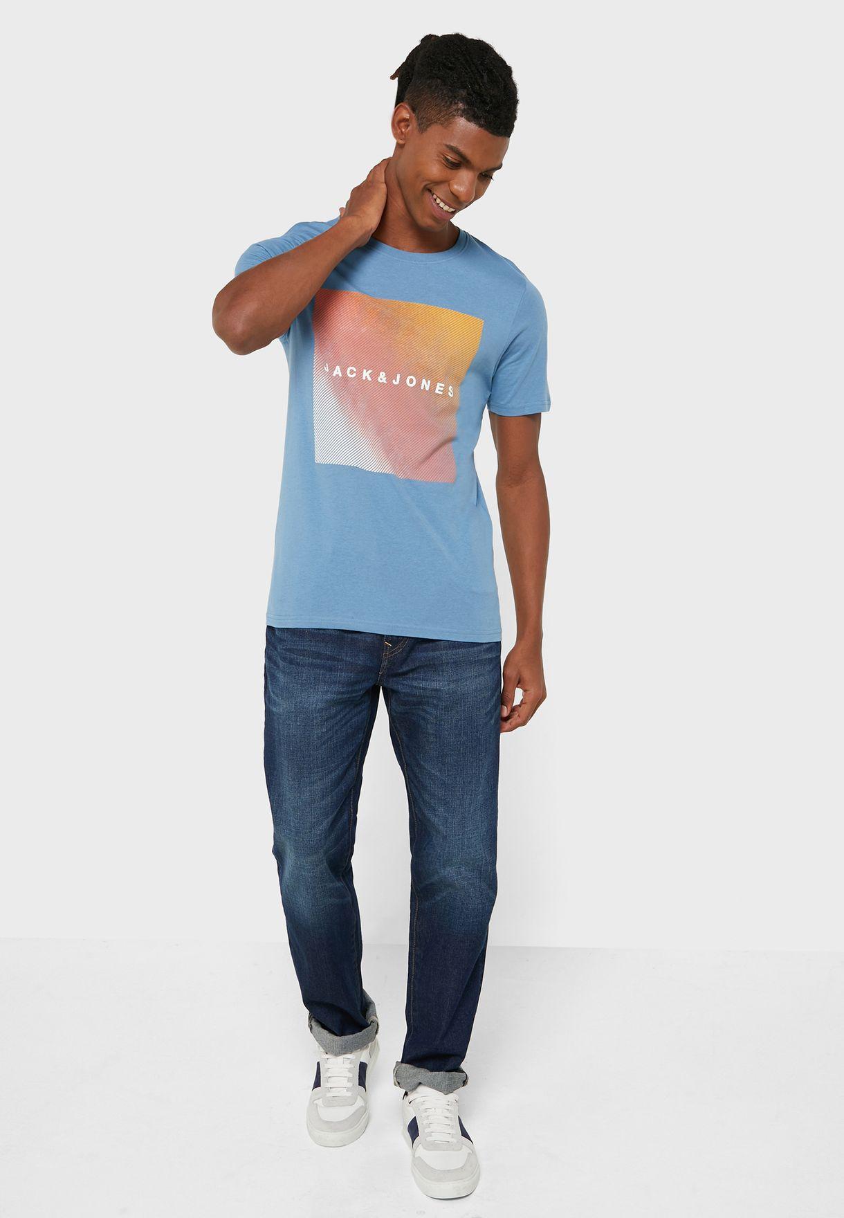 Box Logo Slim Fit Crew Neck T-Shirt