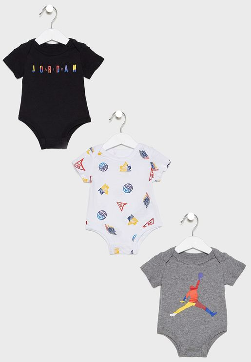 Infant Jordan 3 Pack Bodysuit Set