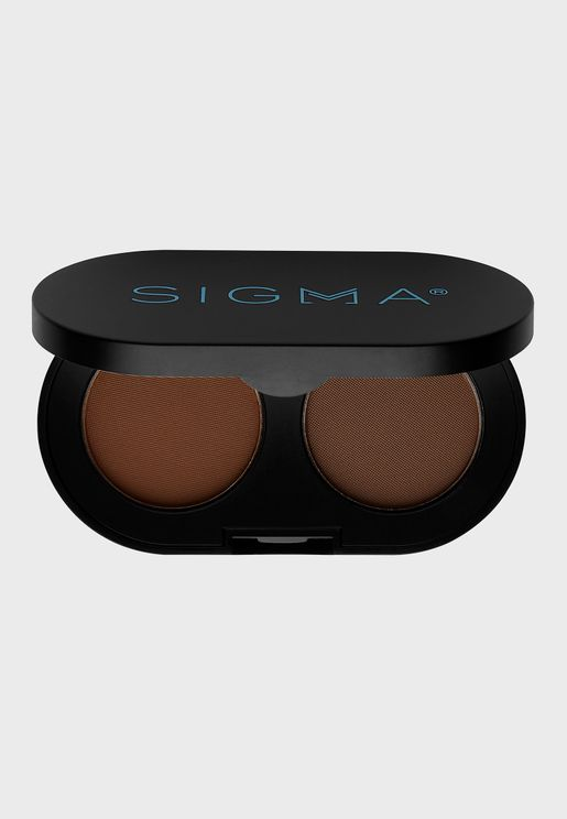 Sigma Beauty Color + Shape Brown Powder Duo in Dark Brown