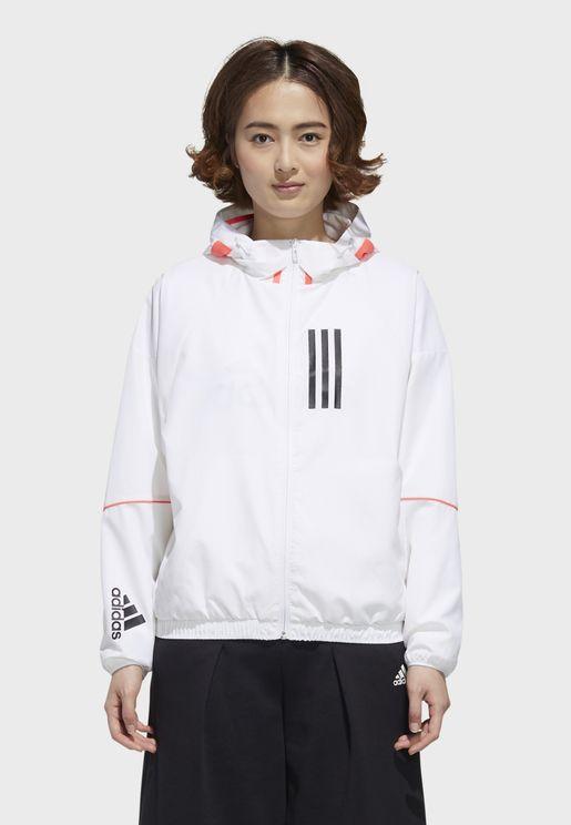 Logo Wind Hooded Jacket