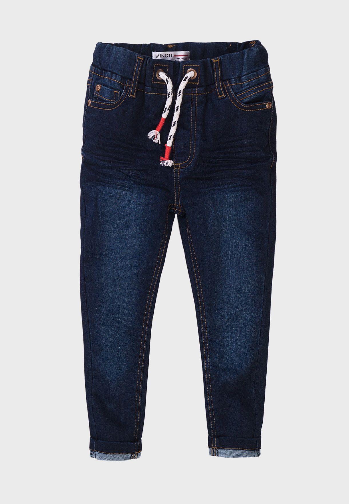 Infant Basic Knitted Denim Jeans