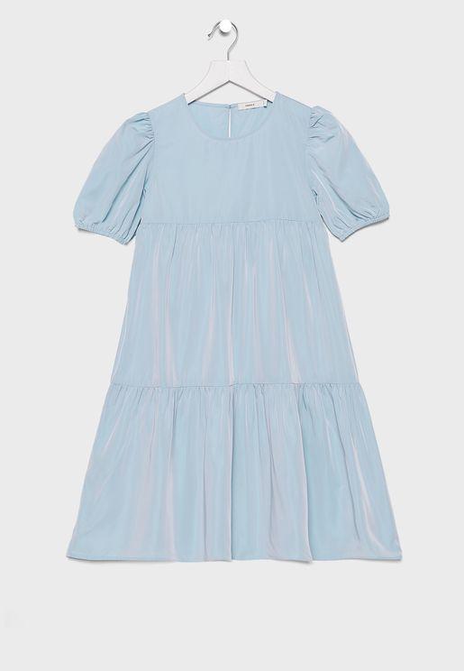فستان بكسرات