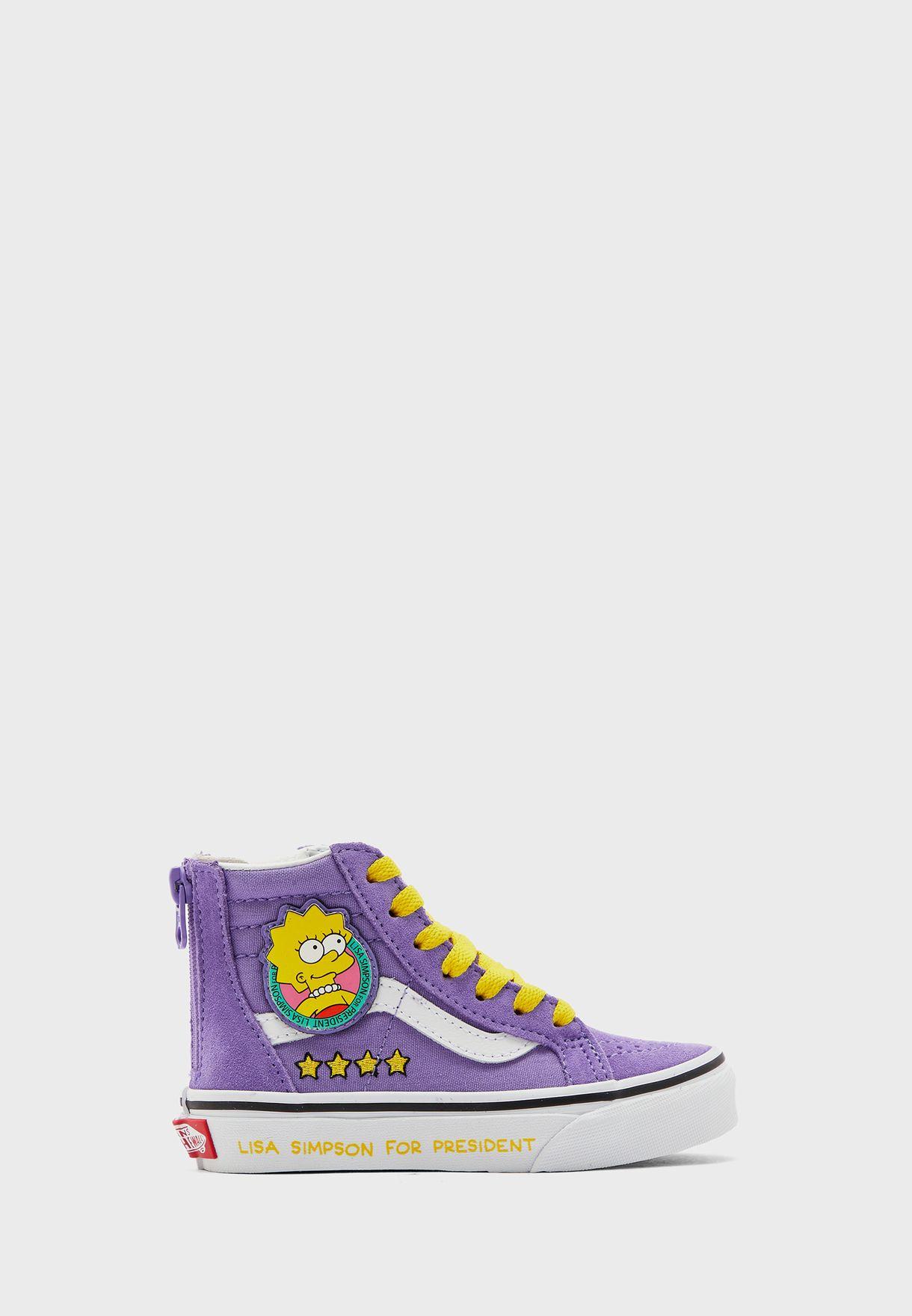 Kids Simpsons Lisa SK8-Hi Zip