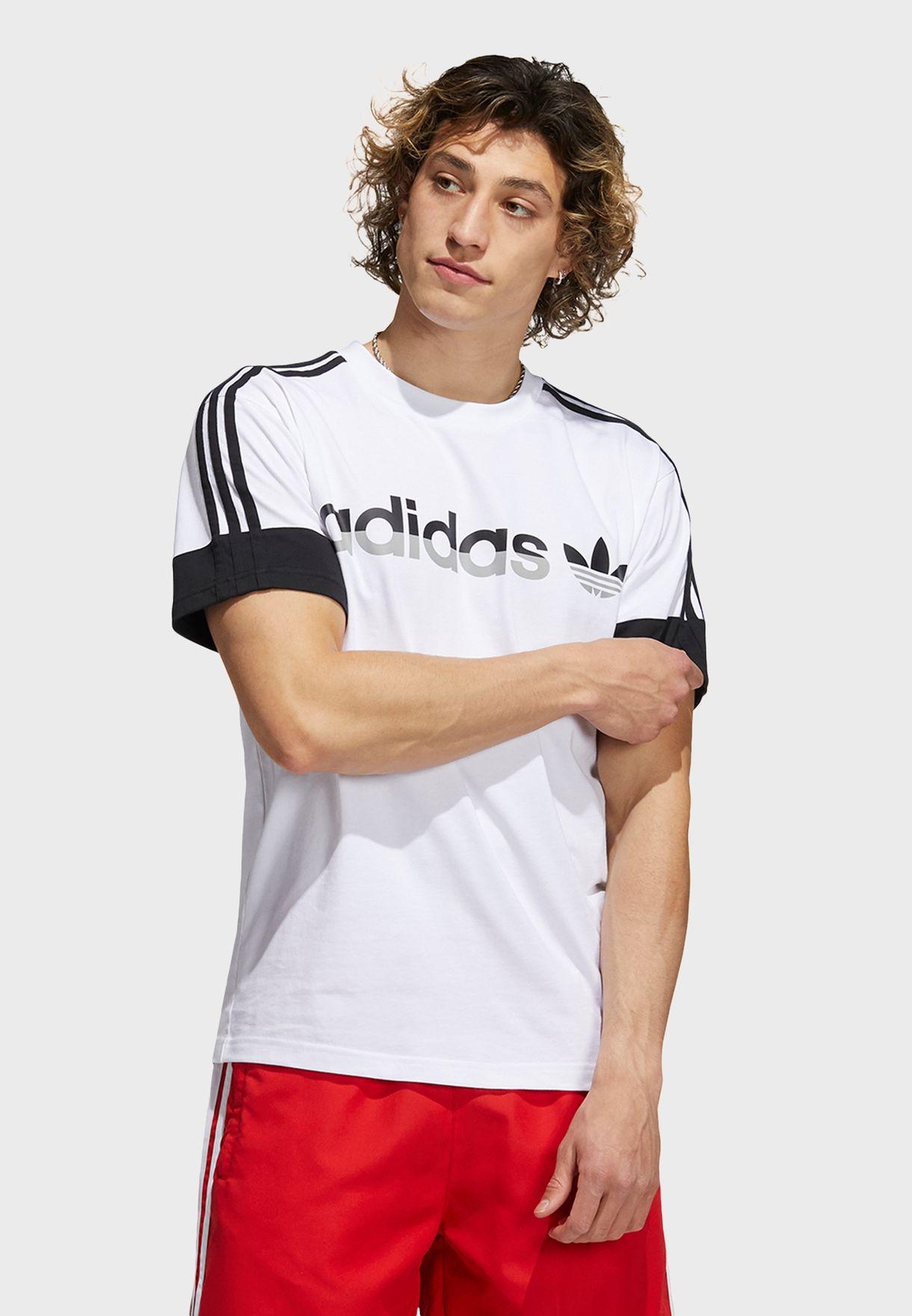 3 Stripe Split T-Shirt