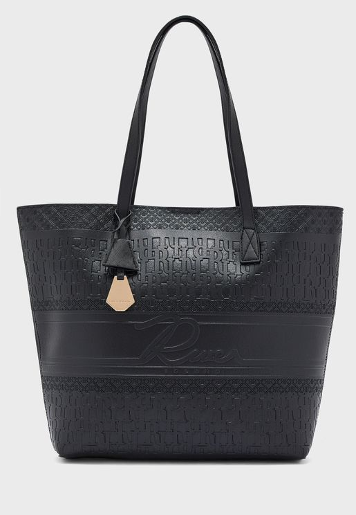 Double Handle Embossed Shopper