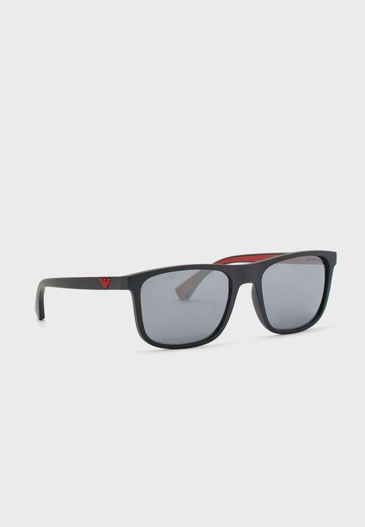 0EA4129 Wayfarer Sunglasses