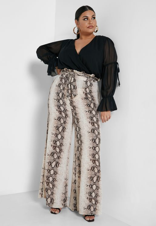 Belted High Waisted Trousers