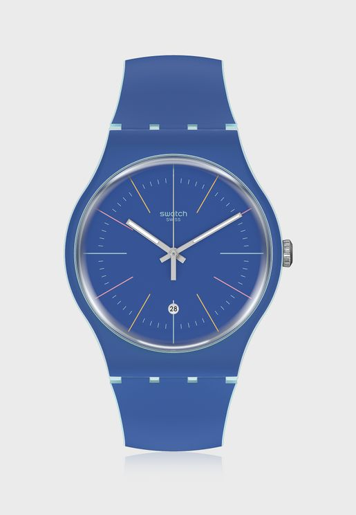 Blue Layered Analog Watch