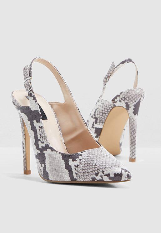 Slingback High Heel Shoe