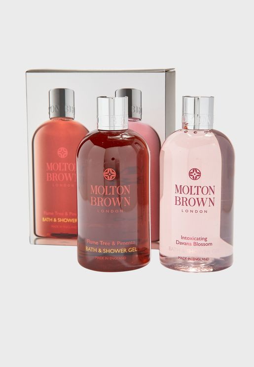 Flame Tree & Pimento And Intoxicating Davana Blossom Bath Set
