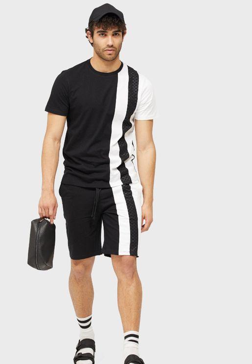 Color Block Shorts