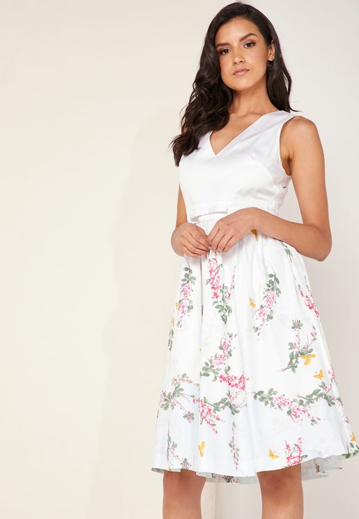 3527a1632 Reyyne Skirted Sleeveless Dress. PREMIUM. Ted Baker. Reyyne Skirted  Sleeveless Dress