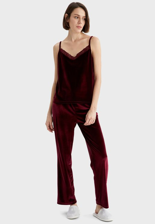 Velvet Pyjama Bottoms