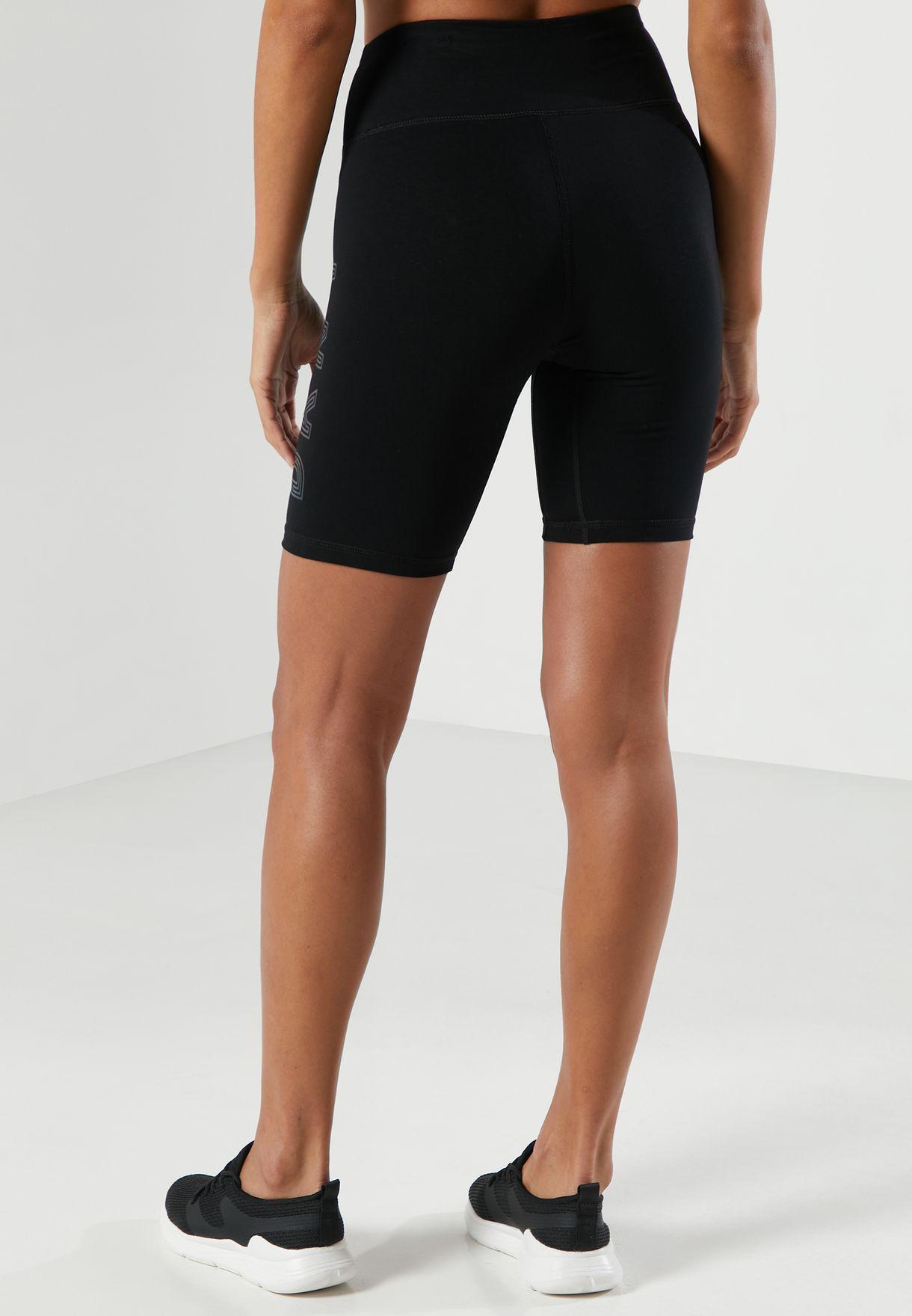 High Waist Logo Shorts