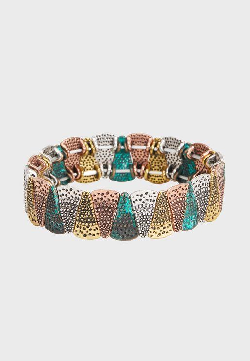 Tricolor Elastic Bracele